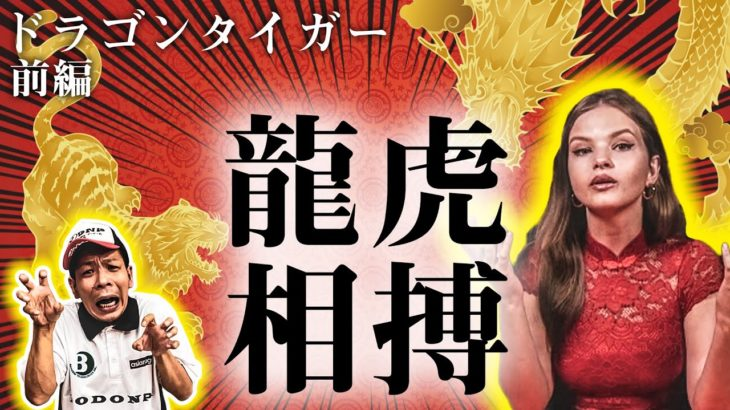 【オンラインカジノ】ピンチ!顔面崩壊罰ゲーム!?敵は日常生活用品!【ドラゴンタイガー】<vol.260>