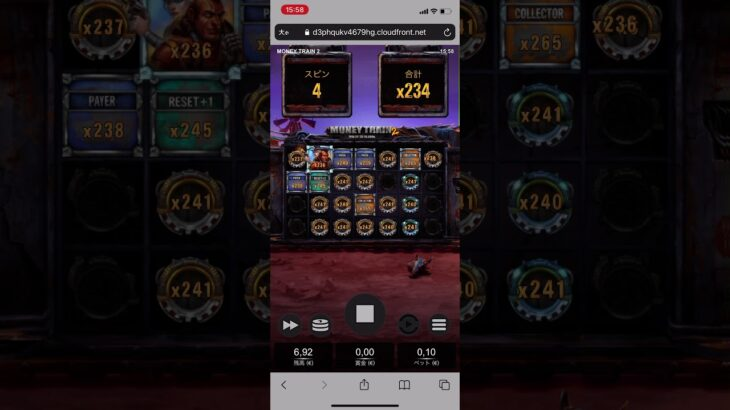 【オンラインカジノ】money train2 BIGWIN! 10000倍!!